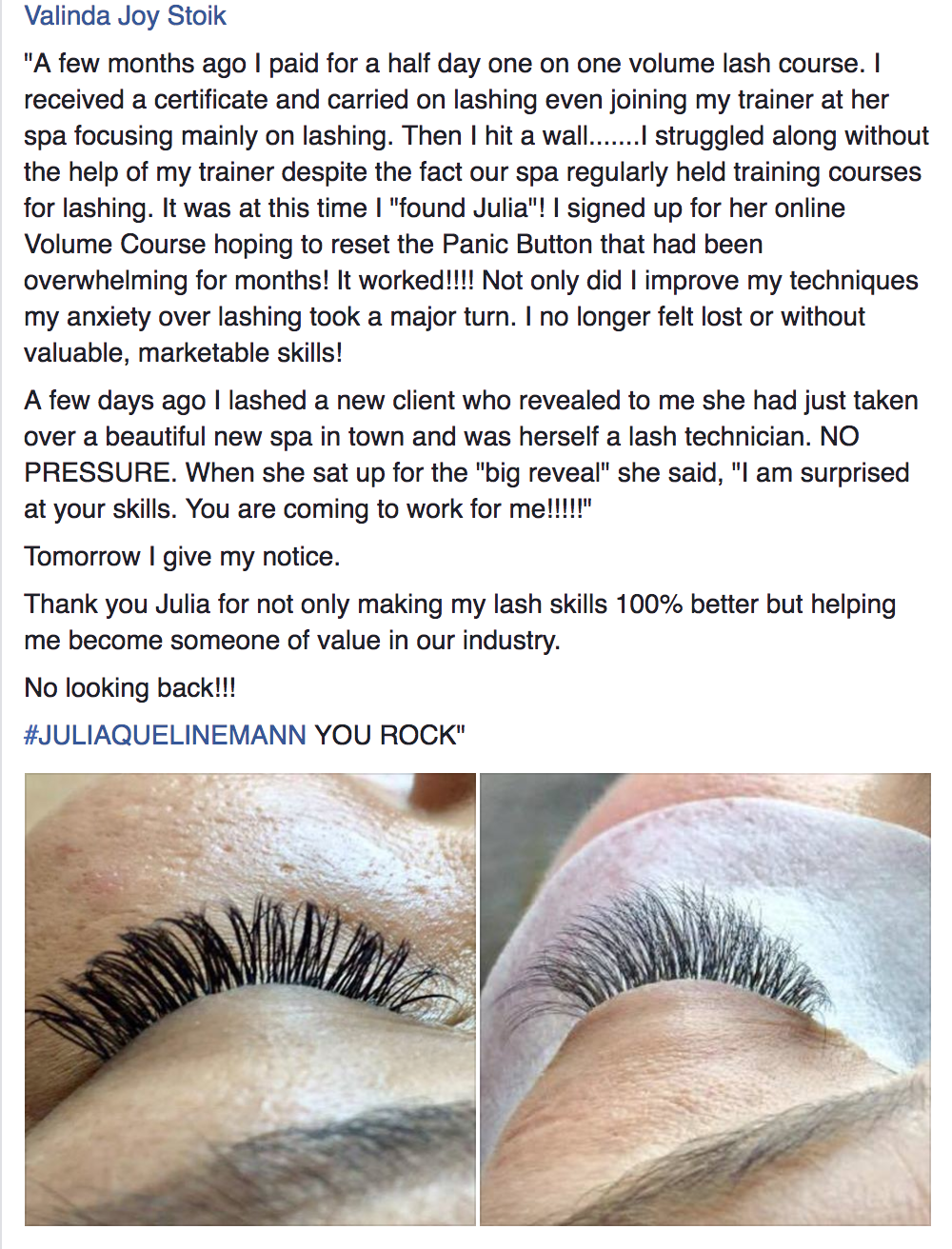 Volume lashes course training
