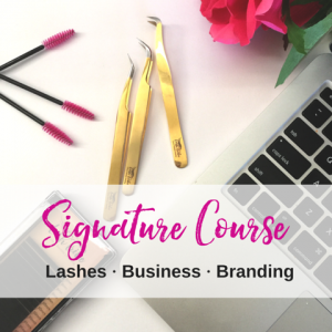 Signature Course Lashes Business Branding