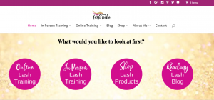 eyelash extension niche site