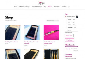 eyelash ecommerce sites